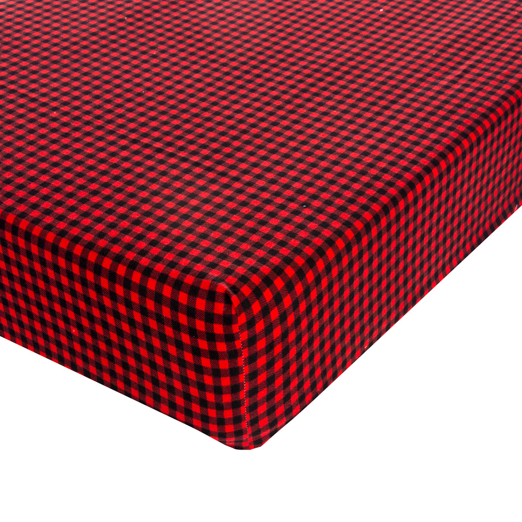 Lumberjack Flannel - Plaid Fitted Sheet - Shop Baby Slings & wraps, Baby Bedding & Home Decor !