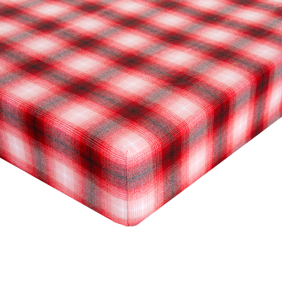 Flannel Check - Red Fitted Sheet - Shop Baby Slings & wraps, Baby Bedding & Home Decor !