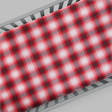 Load image into Gallery viewer, Flannel Check - Red Fitted Sheet - Shop Baby Slings & wraps, Baby Bedding & Home Decor !