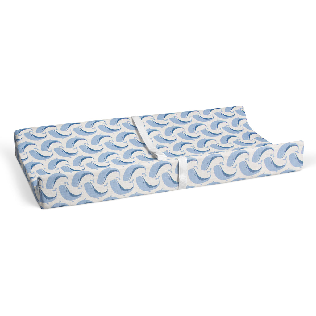 Whale of a Time Changing Pad Cover - Shop Baby Slings & wraps, Baby Bedding & Home Decor !