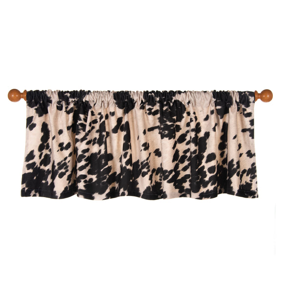 Faux  Cow Animal Curtain Valance 70