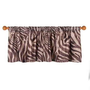 "Faux  Zebra Animal Curtain Valance 70""W x18""H - Shop Baby Slings & wraps, Baby Bedding & Home Decor !"