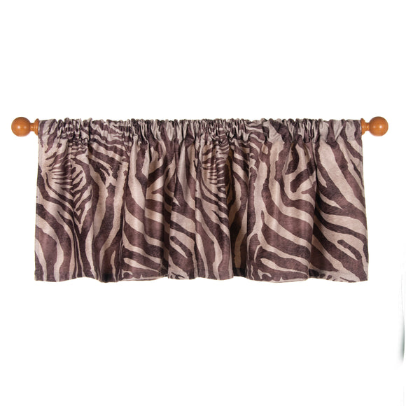 Faux  Zebra Animal Curtain Valance 70