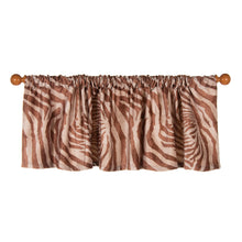 "Load image into Gallery viewer, Faux  Zebra Animal Curtain Valance 70""W x18""H - Shop Baby Slings & wraps, Baby Bedding & Home Decor !"
