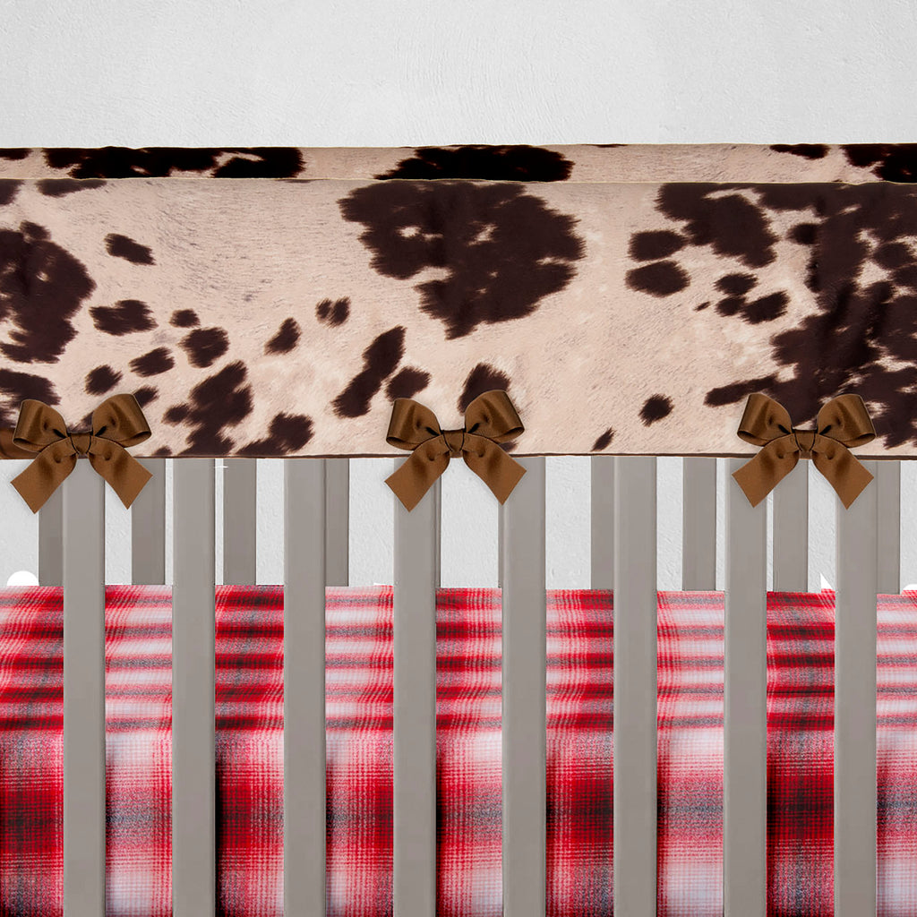 Brown Faux Cow Rail Guard Protector - Shop Baby Slings & wraps, Baby Bedding & Home Decor !