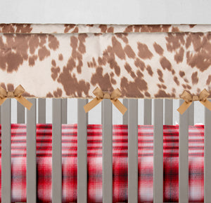Tan Faux Cow Rail Guard Protector - Shop Baby Slings & wraps, Baby Bedding & Home Decor !
