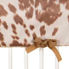 Load image into Gallery viewer, Tan Faux Cow Rail Guard Protector - Shop Baby Slings & wraps, Baby Bedding & Home Decor !