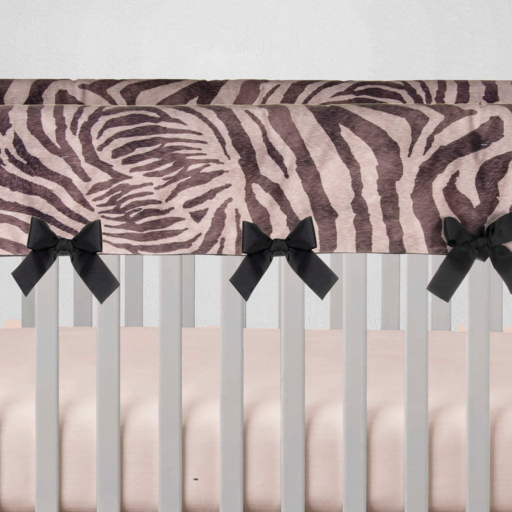 Black Faux Zebra Rail Guard Protector - Shop Baby Slings & wraps, Baby Bedding & Home Decor !