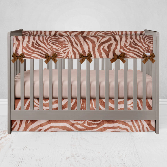 Brown Faux Zebra Rail Guard Protector - Shop Baby Slings & wraps, Baby Bedding & Home Decor !