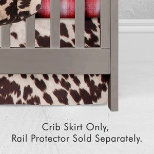 "Faux Cow  Crib Skirt 16"" Drop - Shop Baby Slings & wraps, Baby Bedding & Home Decor !"