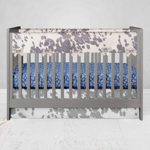 "Load image into Gallery viewer, Faux Cow  Crib Skirt 16"" Drop - Shop Baby Slings & wraps, Baby Bedding & Home Decor !"