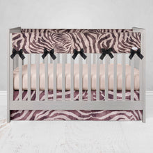 "Load image into Gallery viewer, Faux Zebra  Crib Skirt 16"" Drop - Shop Baby Slings & wraps, Baby Bedding & Home Decor !"