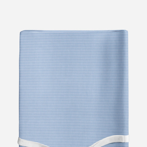 Glenna Jean Blue Gingham Changing Pad Cover