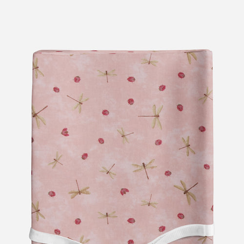 Glenna Jean Pink Bug Changing Pad Cover