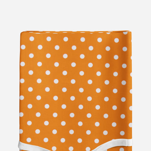 Glenna Jean Orange Dot Changing Pad Cover