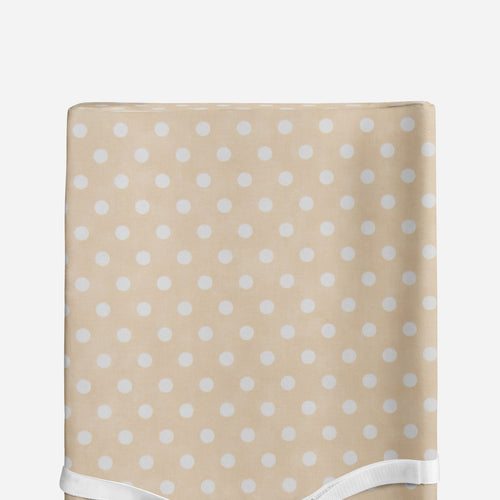 Glenna Jean Tan Dot Changing Pad Cover