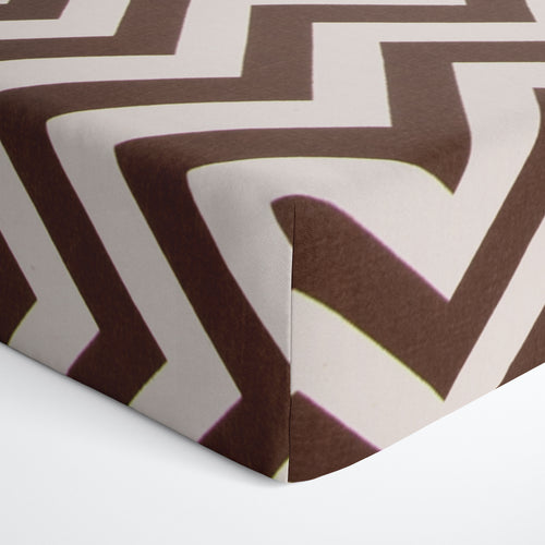 Glenna Jean Brown Chevron Fitted Crib Sheet