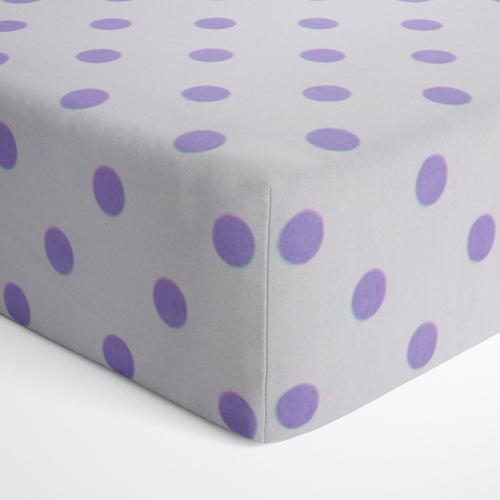 Glenna Jean Purple Dot Fitted Crib Sheet