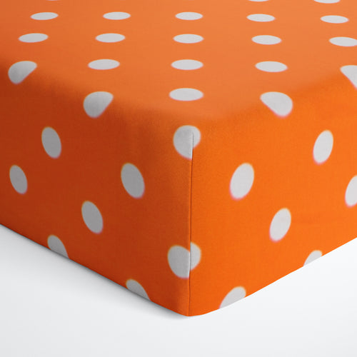 Glenna Jean Orange Dot Fitted Crib Sheet