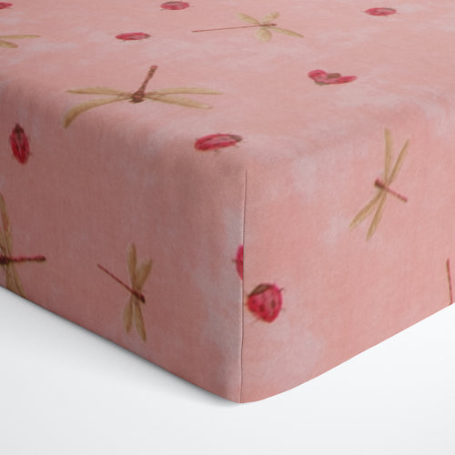 Glenna Jean Pink Bug Fitted Crib Sheet