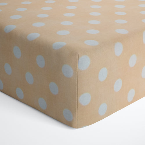 Glenna Jean Tan Dot Fitted Crib Sheet