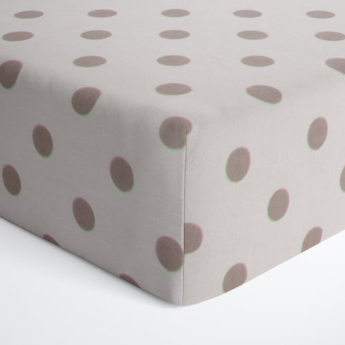 Glenna Jean Grey Dot Fitted Crib Sheet