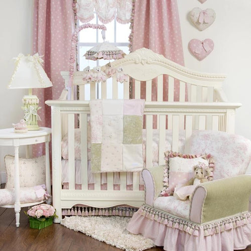 ISABELLA 3PC SET (INCLUDES QUILT, TOILE SHEET, CRIB SKIRT) - Shop Baby Slings & wraps, Baby Bedding & Home Decor !