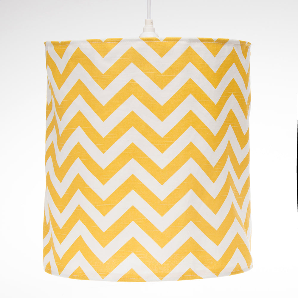 Swizzle Yellow Drum Shade - Ylw Chevron - Shop Baby Slings & wraps, Baby Bedding & Home Decor !