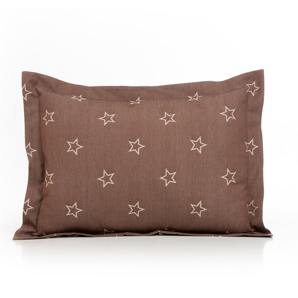 Carson Large Sham (Brown Star) - Shop Baby Slings & wraps, Baby Bedding & Home Decor !