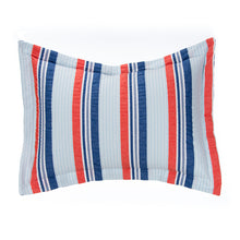 Load image into Gallery viewer, Fish Tales Large Sham (Seersucker Stripe) - Shop Baby Slings & wraps, Baby Bedding & Home Decor !