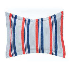 Fish Tales Large Sham (Seersucker Stripe) - Shop Baby Slings & wraps, Baby Bedding & Home Decor !