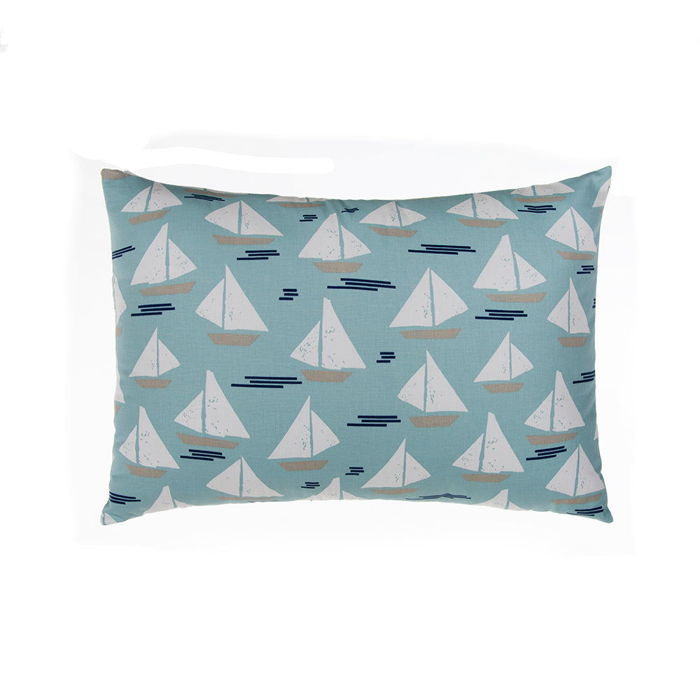 Little Sail Boat Small Sham (Sail Boat) - Shop Baby Slings & wraps, Baby Bedding & Home Decor !