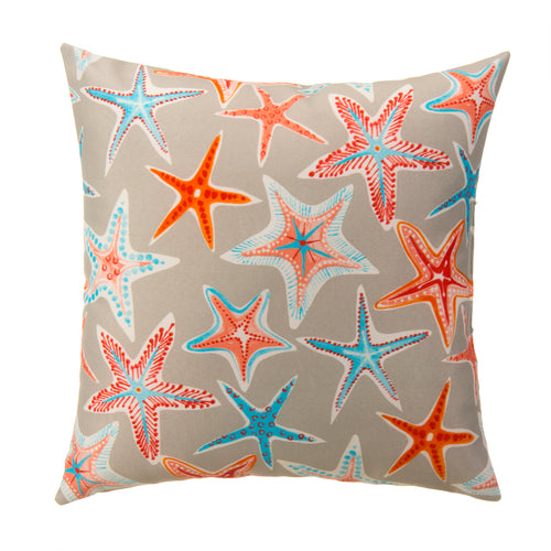 Starstruck - Orange Square Pillow 28