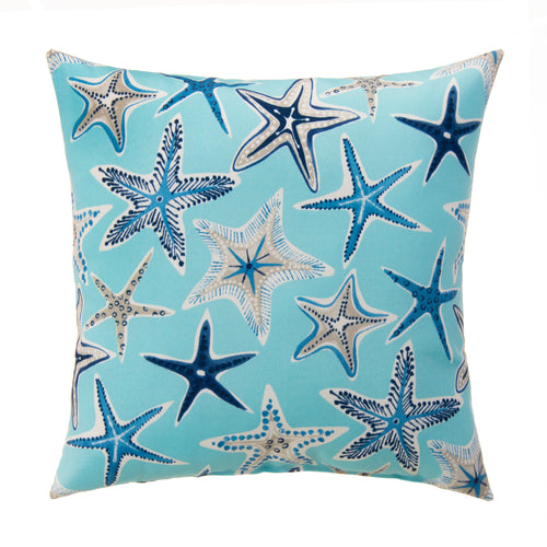 Starstruck - Blue Square Pillow 28