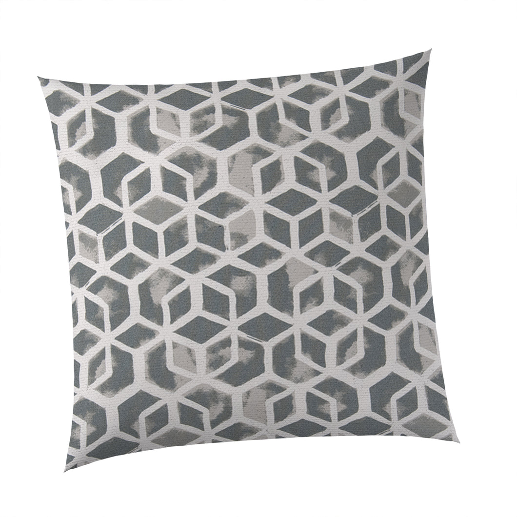 Cubed - Grey Square Pillow 28