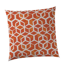 "Load image into Gallery viewer, Cubed - Orange Square Pillow 28"" x 28"" - Shop Baby Slings & wraps, Baby Bedding & Home Decor !"