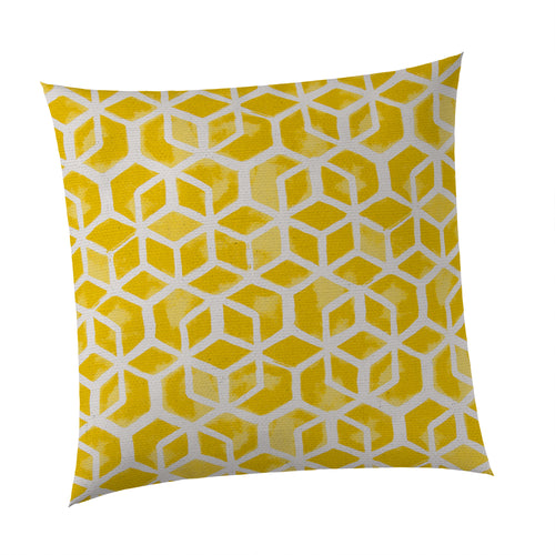 Cubed - Yellow Square Pillow 28