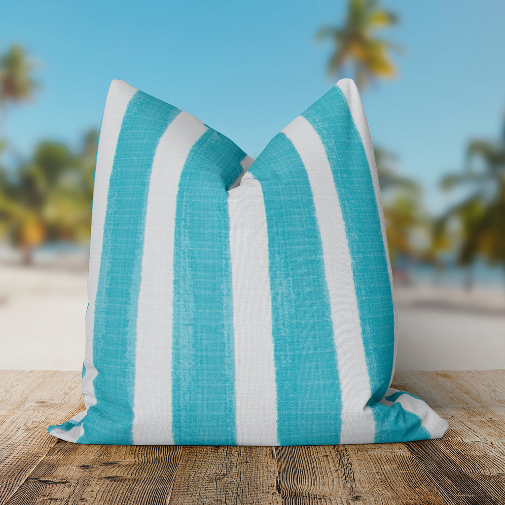 "Caravan Aqua (Cabana Aqua) Square 18.5""x18.5"" Pillow - Shop Baby Slings & wraps, Baby Bedding & Home Decor !"
