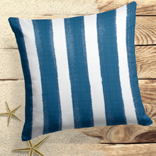 "Load image into Gallery viewer, Caravan Navy (Cabana Navy) Square Pillow 18.5"" x 18.5"" - Shop Baby Slings & wraps, Baby Bedding & Home Decor !"