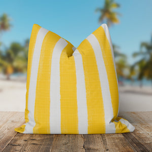 "Caravan Yellow (Cabana Yellow) Square Pillow 28"" x 28"" - Shop Baby Slings & wraps, Baby Bedding & Home Decor !"