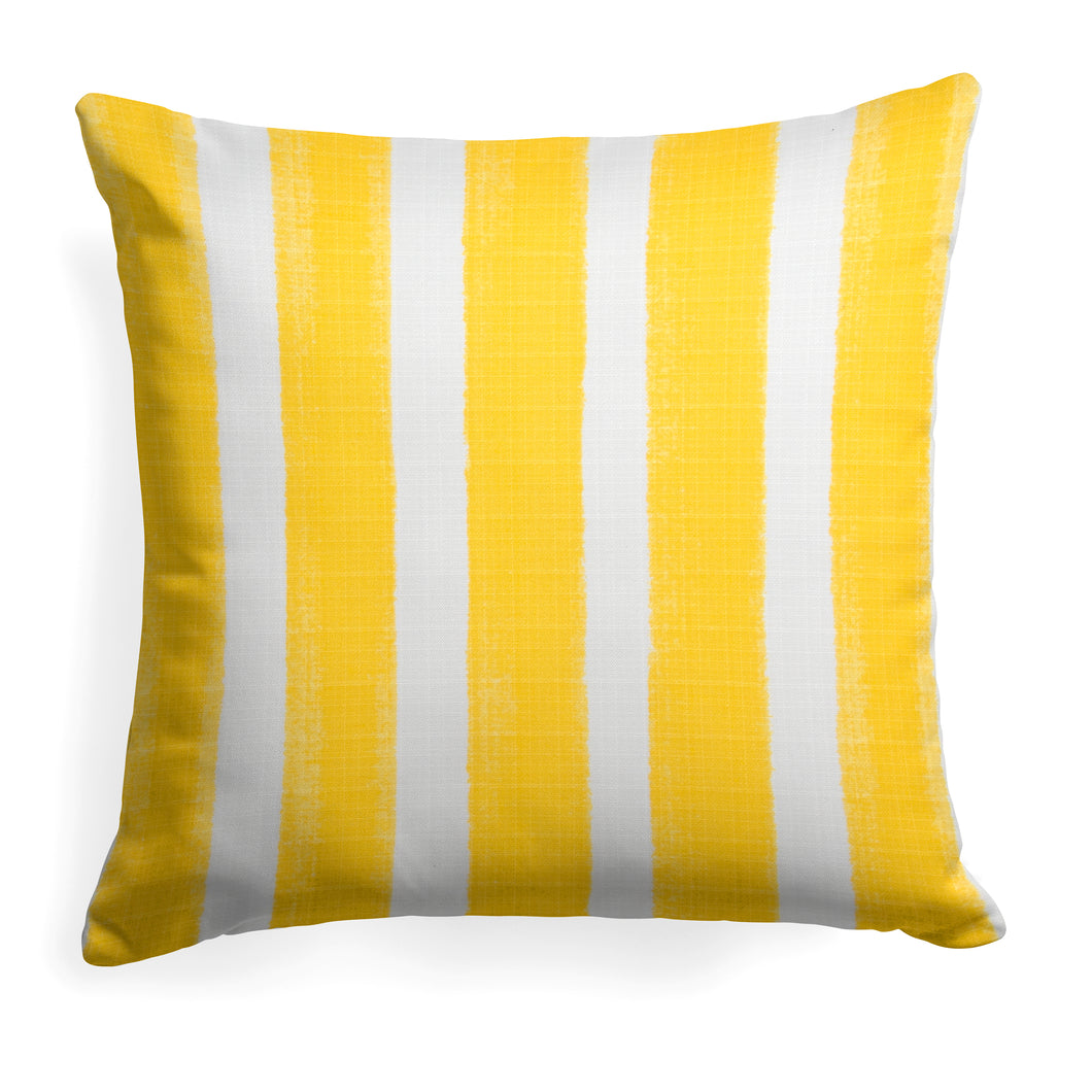 Caravan Yellow (Cabana Yellow) Square Pillow 28