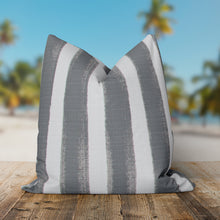 "Load image into Gallery viewer, Caravan Grey (Cabana Grey) Square Pillow 18.5"" x 18.5"" - Shop Baby Slings & wraps, Baby Bedding & Home Decor !"