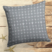 "Load image into Gallery viewer, Sea Island Grey (Neptune Grey) Square Pillow 25"" x 25"" - Shop Baby Slings & wraps, Baby Bedding & Home Decor !"
