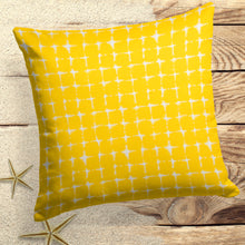 "Load image into Gallery viewer, Sea Island Yellow (Neptune Yellow) Square Pillow 18.5"" x 18.5"" - Shop Baby Slings & wraps, Baby Bedding & Home Decor !"
