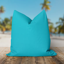 "Load image into Gallery viewer, Lagoon (Aqua Solid) Square Pillow 18.5"" x 18.5"" - Shop Baby Slings & wraps, Baby Bedding & Home Decor !"