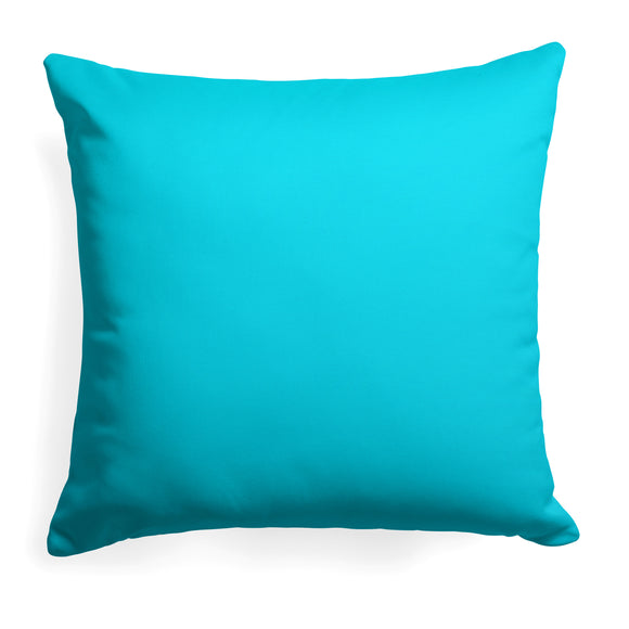 Lagoon (Aqua Solid) Square Pillow 18.5