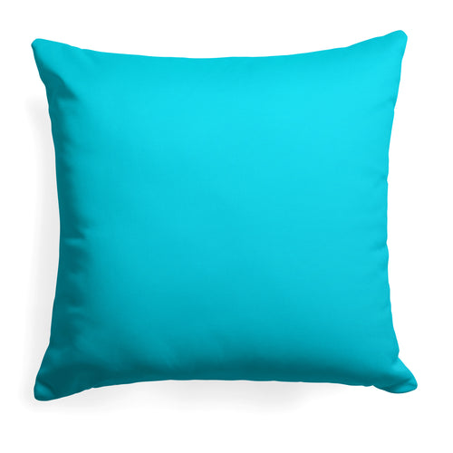 Lagoon (Aqua Solid) Square Pillow 28