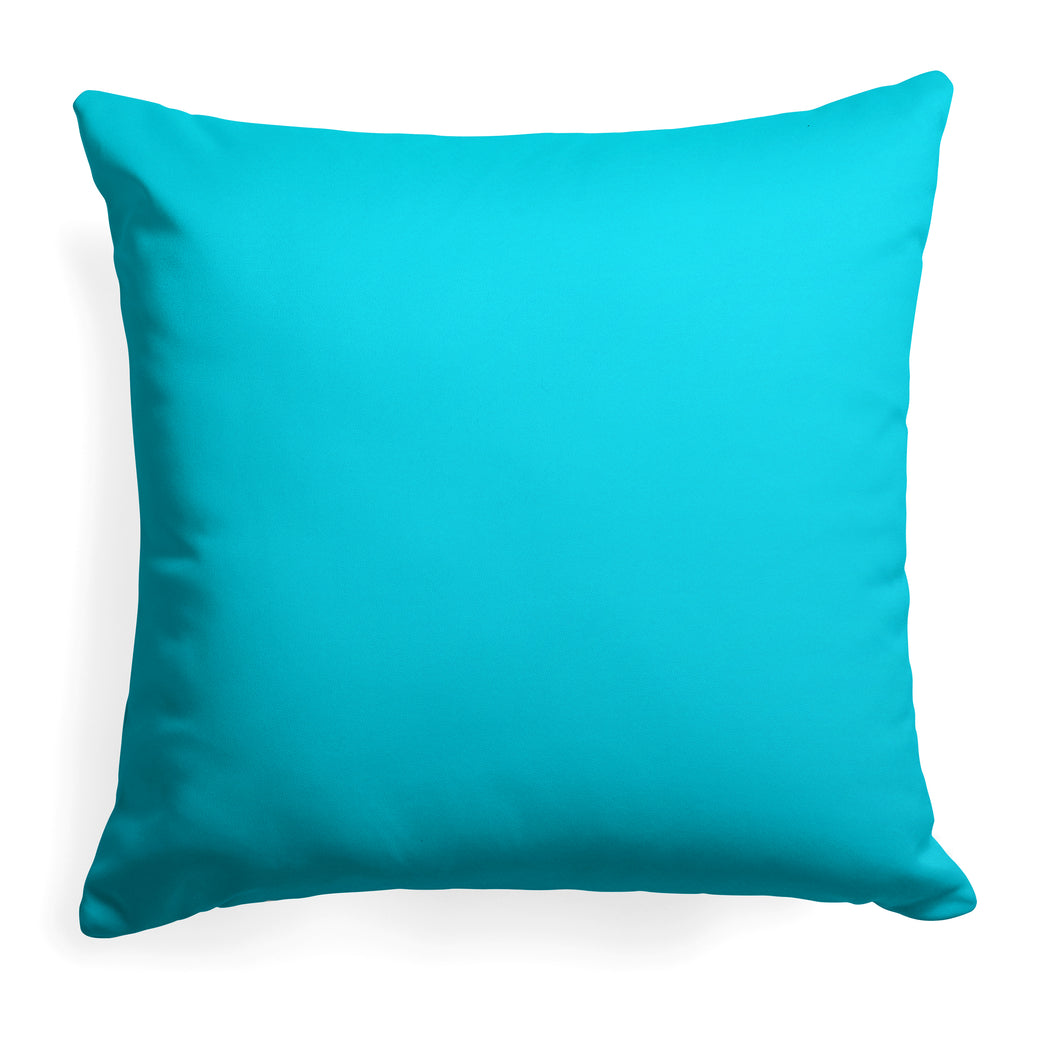 Lagoon (Aqua Solid) Square Pillow 25