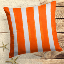 "Load image into Gallery viewer, Caravan Orange(Cabana Orange) Square Pillow 18.5""x 18.5"" - Shop Baby Slings & wraps, Baby Bedding & Home Decor !"