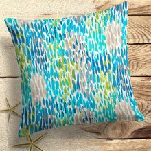 "Load image into Gallery viewer, Peacock Feathers - Blue Square 18.5"" x 18.5"" - Shop Baby Slings & wraps, Baby Bedding & Home Decor !"